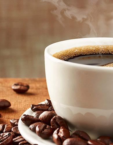 Complimentary organic coffee